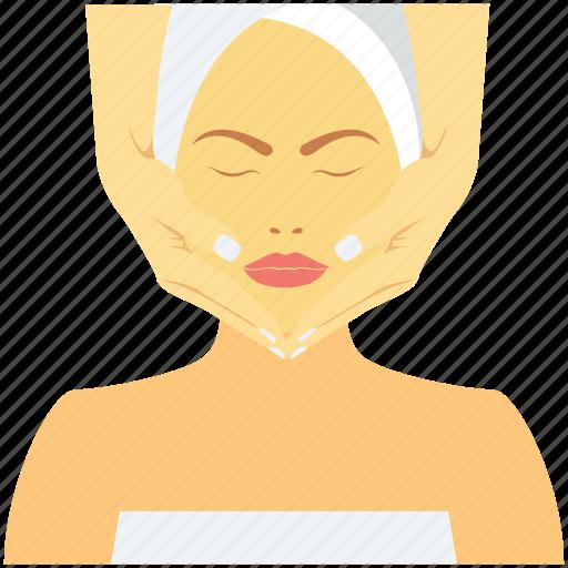 beauty care, beauty treatment, face mask, facial, salon icon