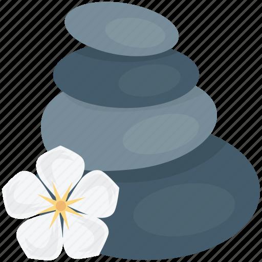 hot stones, spa stones, spa treatment, stone massage, stone treatment icon