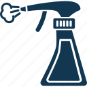 shower bottle, spray bottle, spray can, spray container, wiping sprayer icon