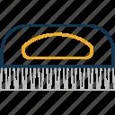 brush, hair brush, hair style, hairdressing, paddle brush icon