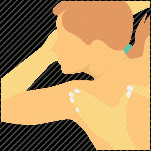 back massage, health spa, shoulder massage, spa massage, wellness icon