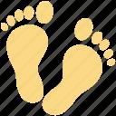 foot, footprints, footsteps, human footsteps, pedicure