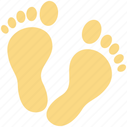 foot, footprints, footsteps, human footsteps, pedicure icon