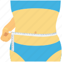 fitness, measuring waist, slim waist, waist, waistline icon