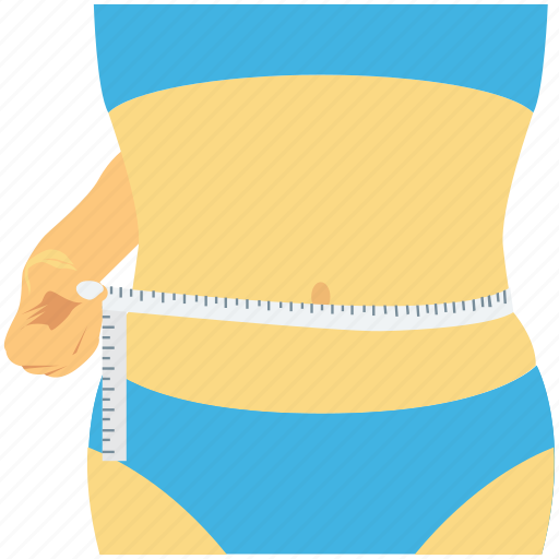 fitness, measuring waist, slim waist, waist, waistline icon