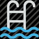 pool ladders, pool stairs, pool steps, swimming, swimming pool icon