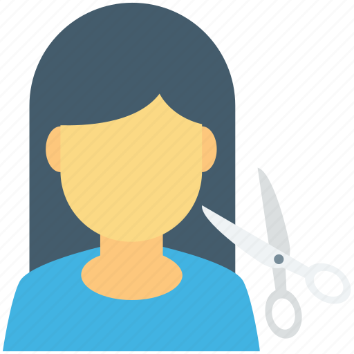 hair cutting, hair salon, hair styling, hairdressing, scissor icon