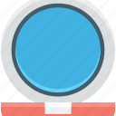 mirror, mirror table, pedestal mirror, salon mirror, vanity mirror icon