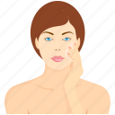beauty, beauty treatment, spa, woman, woman face icon