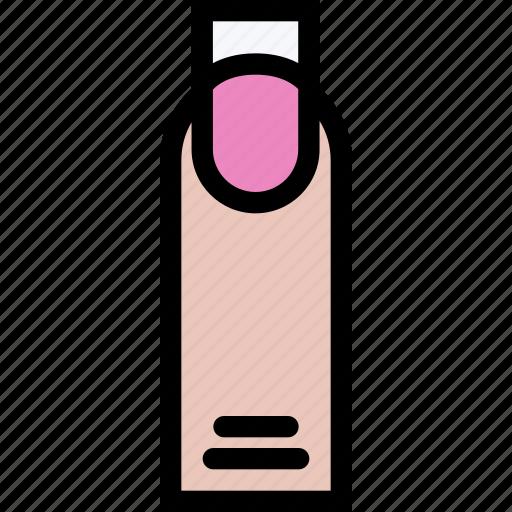 beauty, cosmetics, hairstyle, manicure, spa salon icon