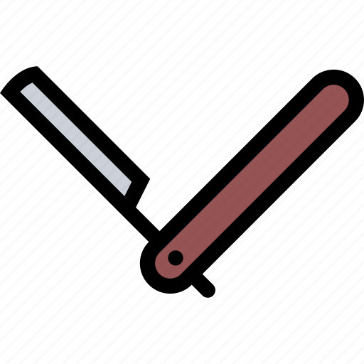 beauty, cosmetics, hairstyle, spa salon, straight razor icon