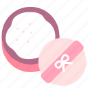 beauty, cosmetic, makeup, puff, powder icon