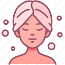 cosmetic, shower, woman, hair, spa, beauty icon