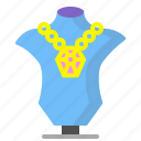 diamond, jewelry, necklace, shine icon
