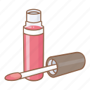 beauty, cosmetic, facial, gloss, lips, lipstick, makeup icon
