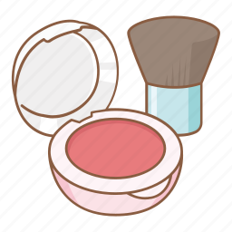 brush, cheek, cheek palettes, color, cosmetic, makeup, pink icon