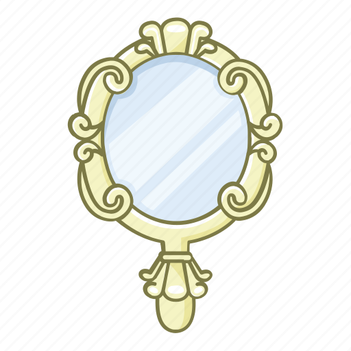 beauty, cosmetic, glass, hand, mirror, reflect, reflection icon