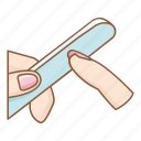 beauty, cleaning, cosmetic, hygiene, makeup, manicure, nail file icon