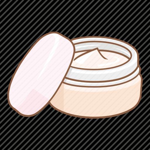beauty, container, cosmetic, cream, cream jar, facial, skincare icon