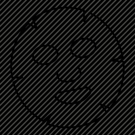 beauty, face, face lift, facial, head, mask, relax icon