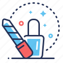 file, manicure, nail, polish icon
