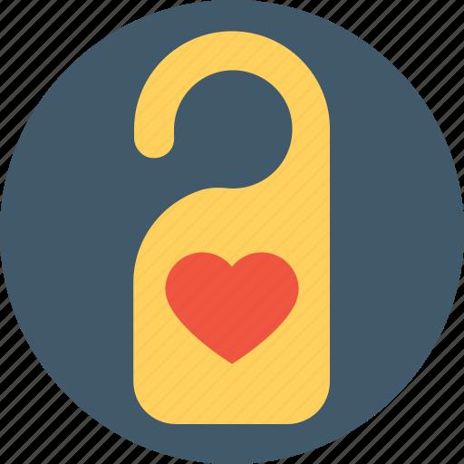 door hanger, door knob, door tag, heart hanging sign, wedding door knob icon