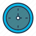 bed, clock, furniture, home, hotel, night, room icon