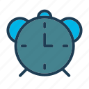alarm, bed, clock, furniture, home, hotel, room icon