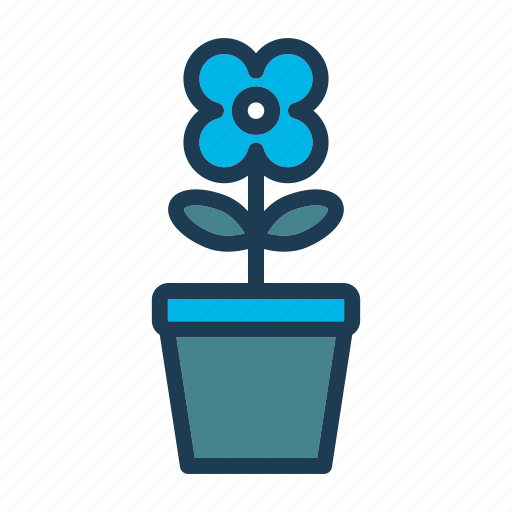 bed, flower, furniture, home, hotel, night, room icon