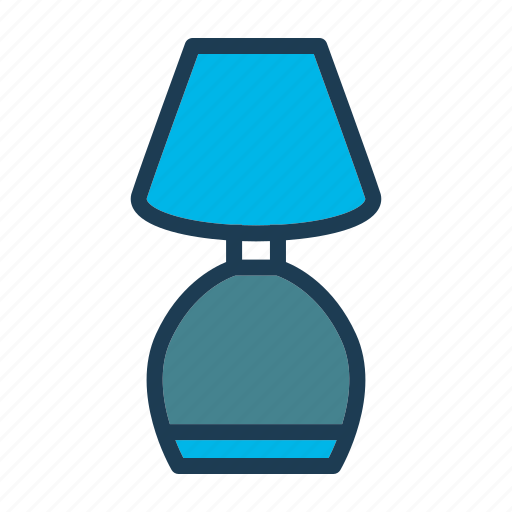 bed, furniture, home, hotel, lamp, night, room icon