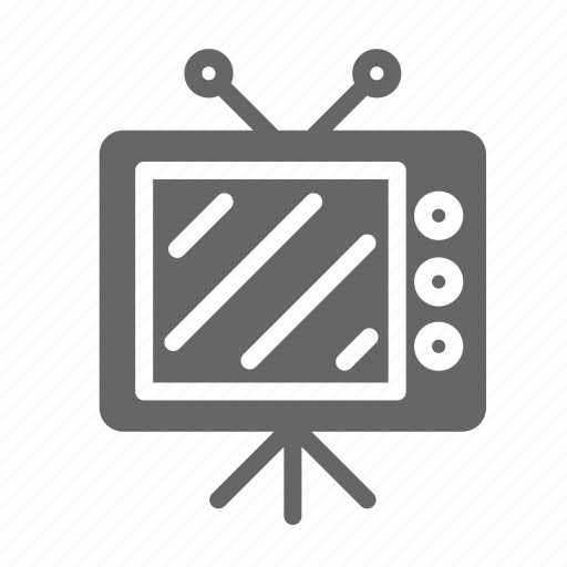 bed, furniture, home, hotel, night, room, tv icon
