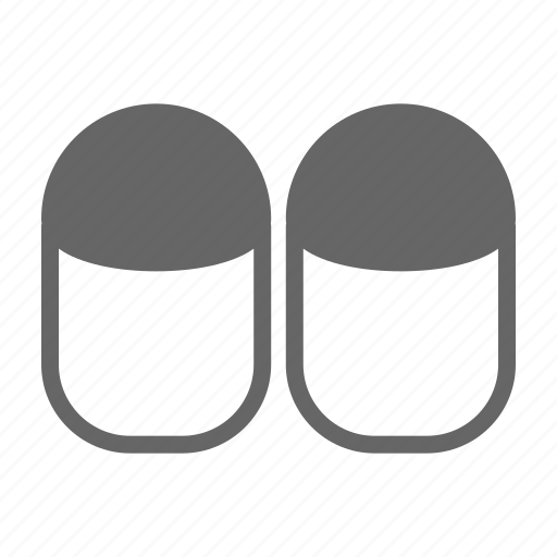bed, furniture, home, hotel, night, room, slippers icon