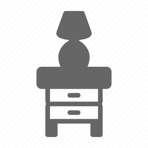 bed, furniture, home, hotel, lamp, room, table icon