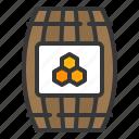 barrel, bee, farm, honey barrel icon