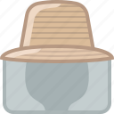 beekeeper, beekeeping, garden, hat, head, protection, yumminky icon