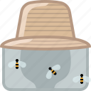 beekeeper, beekeeping, bees, garden, head, protection, yumminky icon