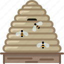 beehive, beekeeping, bees, garden, hive, honey, yumminky icon