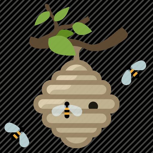 beehive, beekeeping, bees, garden, hive, wild bees, yumminky icon