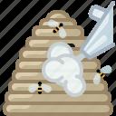 beehive, beekeeping, bees, garden, hive, smoke, yumminky icon