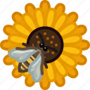 bee, beekeeping, flower, garden, pollen, pollination, yumminky icon