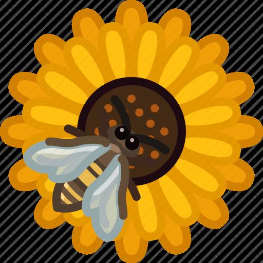 bee, beekeeping, flower, garden, pollen, pollination, yumminky icon