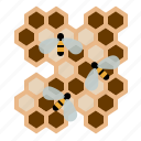 beekeeping, bees, garden, honeycomb, larvae, worker bees, yumminky icon