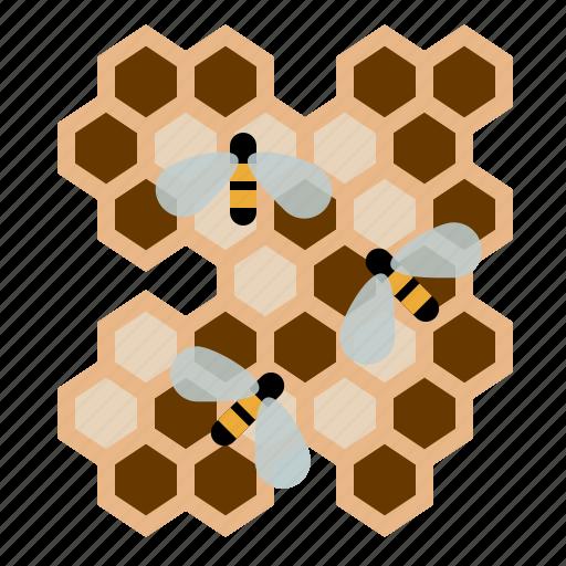 beekeeping, bees, garden, honeycomb, larvae, worker bees, yumminky icon