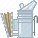 beekeeper, beekeeping, equipment, garden, smoke, smoker, yumminky icon