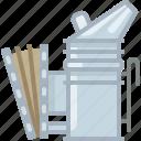beekeeper, beekeeping, equipment, garden, smoke, smoker, yumminky icon