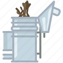 beekeeper, beekeeping, garden, smoke, smoker, wood, yumminky icon