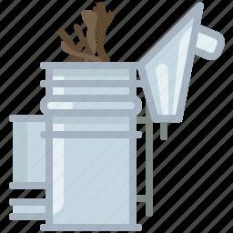 beekeeper, beekeeping, garden, smoke, smoker, wood, yumminky icon