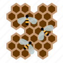 beekeeping, bees, garden, honey, honeycomb, worker bees, yumminky icon