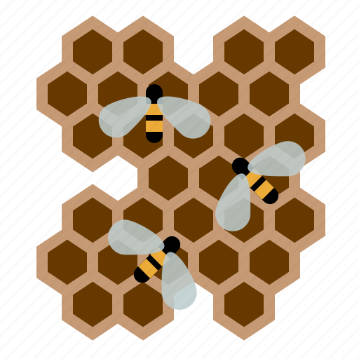 beekeeping, bees, garden, honey, honeycomb, worker bees, yumminky icon