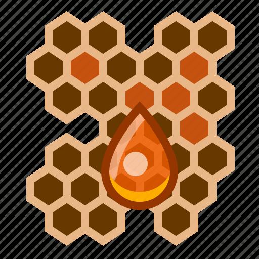 beehive, beekeeping, drop, garden, honey, honeycomb, yumminky icon